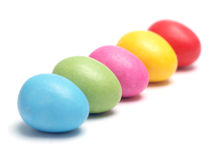 Small Easter Eggs Row Stock Image