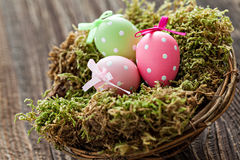 Small easter basket Royalty Free Stock Image