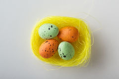 Small easter nest on white Stock Images