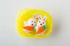 Small easter nest on white Stock Image