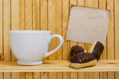 Small eclairs Stock Photo