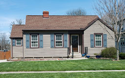 Small, Economical, Aluminum-sided House Royalty Free Stock Photo