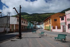 Small Ecuadorian town royalty free stock photo