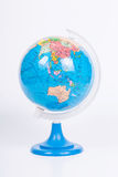 Small Education globe. Close up Small Education globe with white background royalty free stock photo