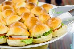 Small egg hamburger snack Royalty Free Stock Photos