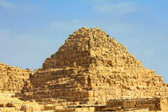 Small egypt pyramid in Giza Royalty Free Stock Image