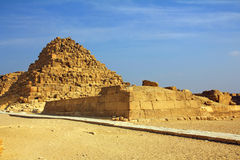 Small egypt pyramid in Giza Royalty Free Stock Photos
