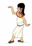 Small Egyptian. Egyptian girl costume, file eps 10 Royalty Free Illustration