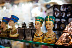 Small egyptian statues Stock Images
