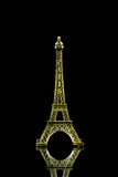Small Eiffel tower isolated Stock Images
