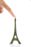 Small Eiffel tower isolated Stock Photography