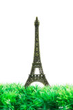 Small Eiffel tower isolated Royalty Free Stock Photos