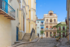 The small El Angel square in Old Havana Stock Photo
