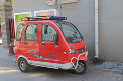 Small electric car Beijing China Stock Photo