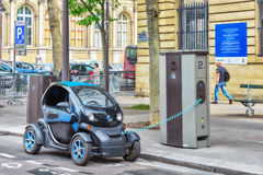 Small electric charge on Paris Street. Stock Image