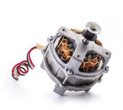 Small electric motor. On white background Stock Photography
