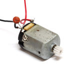 Small electric motor isolated on white background Royalty Free Stock Photography