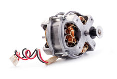 Small electric motor. On white background Royalty Free Stock Images