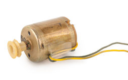 Small electric motor. On white background Stock Photo