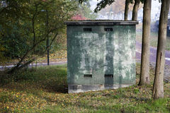 Small electricity transformer house Royalty Free Stock Photos
