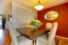 Small elegant dining corner area Stock Photo
