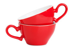 Small elegant red coffee cup Royalty Free Stock Photo
