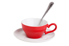 Small elegant red coffee cup Stock Image