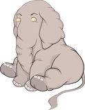 Small elephant. Animals circus humor Royalty Free Stock Photo