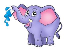 Small elephant. Color illustration of little elephant Royalty Free Stock Image