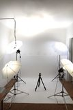 Small empty amateur studio Stock Photography