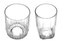 Small empty glasses Royalty Free Stock Photography