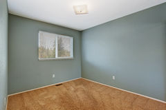 Small empty  room in aqua color Royalty Free Stock Photography