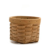 Small empty wicker basket Royalty Free Stock Images