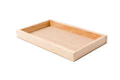 Small empty wooden crate isolated on white Stock Photo