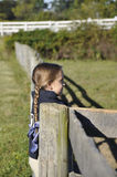Small equestrian girl royalty free stock photo