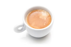 Small espresso cup isolated on white Stock Image