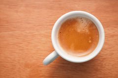 Small espresso cup. Top view on table Stock Images