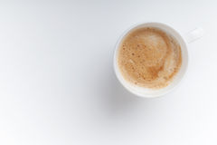 Small espresso cup. Top view on white Royalty Free Stock Images