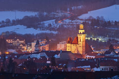 Small European Town. Royalty Free Stock Photos