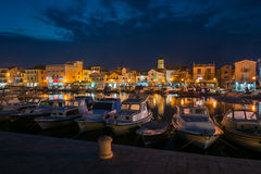 Small european town at night Stock Image