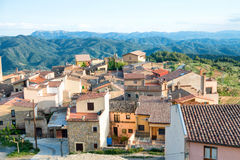 Small european town in Spain Royalty Free Stock Photography