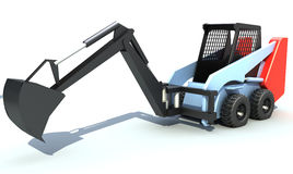 Small excavator. 3D rendered image royalty free illustration