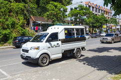 Small exchange office car in the Thai style. Stock Images