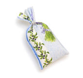 Small fabric bag with spice Stock Photo