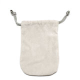Small fabric pouch Royalty Free Stock Image