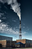 Small factory causing pollution Royalty Free Stock Image