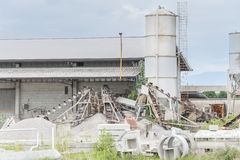 Small factory for cement products Royalty Free Stock Image