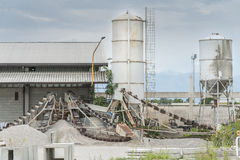Small factory for cement products Royalty Free Stock Images