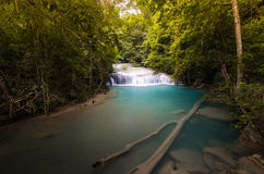 A small fall in the Erawan Fall. Thailand Stock Photo