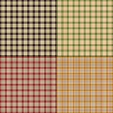 Small fall plaids. Vector background patterns vector illustration
